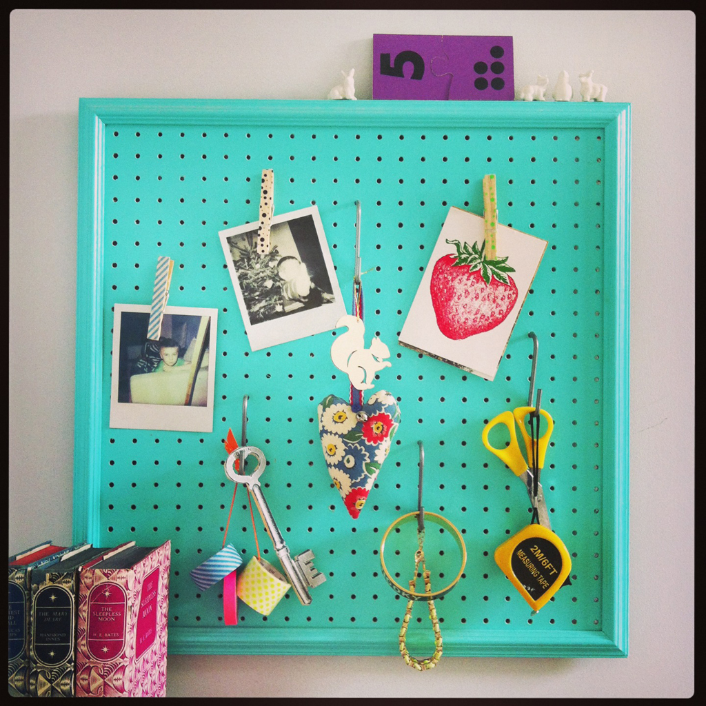 bedroom pegboard