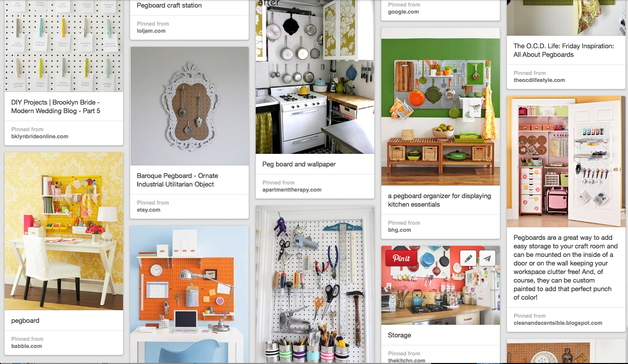 pinterest pegboards