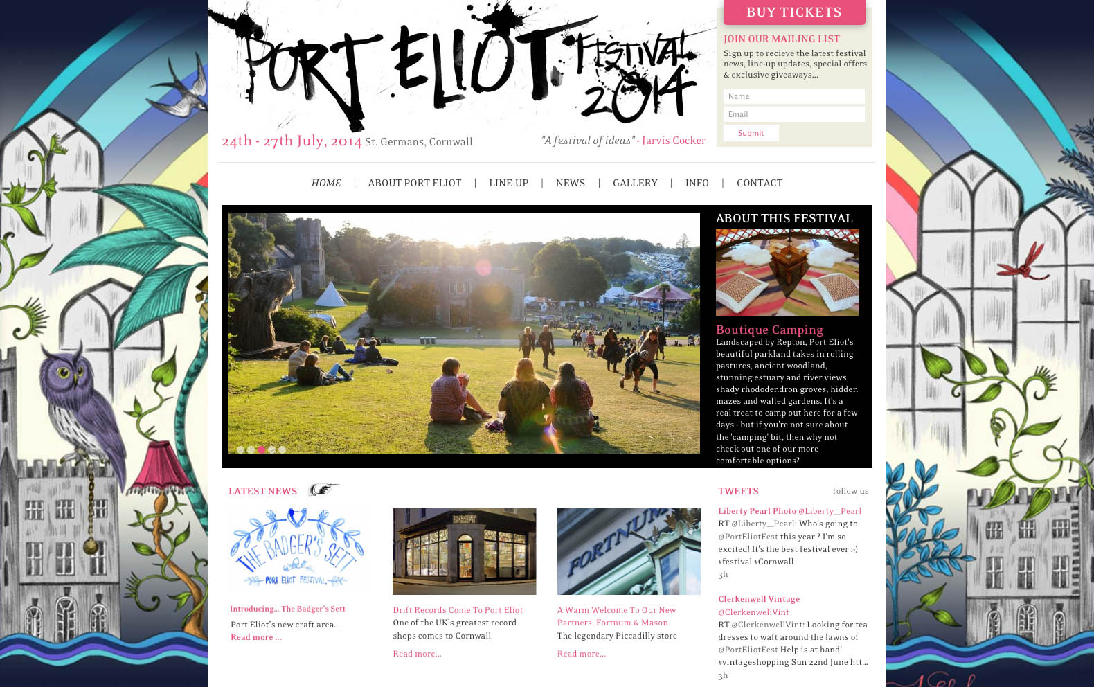 port eliot website