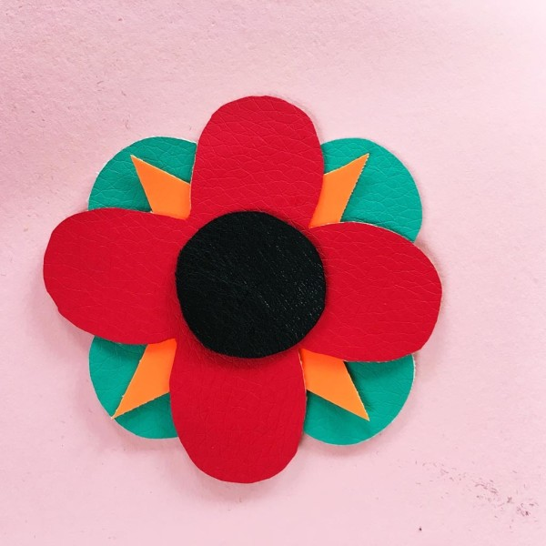 SEWYEAH pleather fabric flower 14
