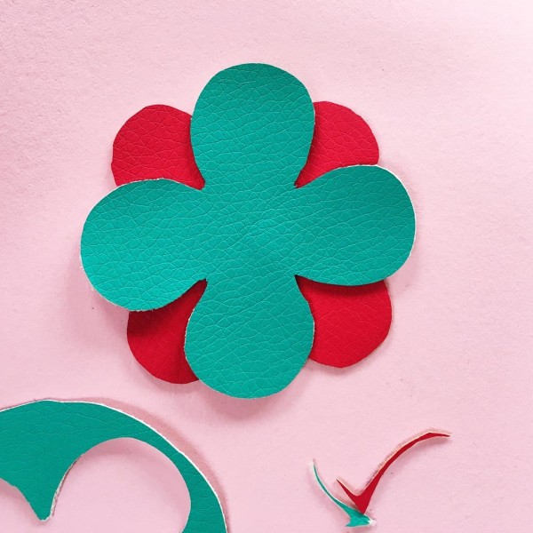 SEWYEAH pleather fabric flower 7