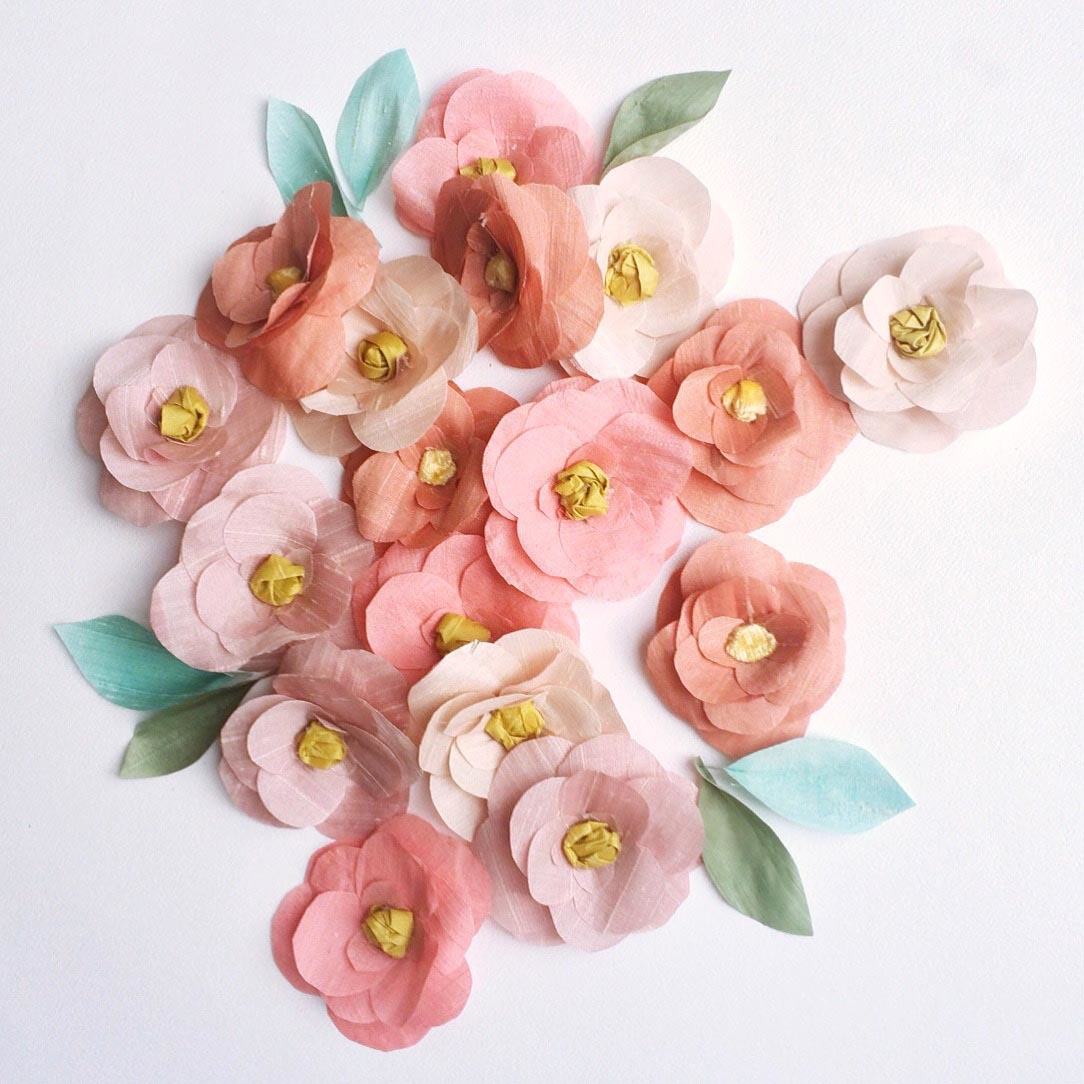 sewyeah bespoke blooms silk camellias bridal flowers 2