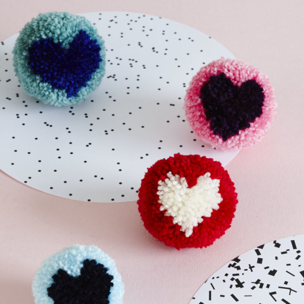 PomPom hearts sewyeah