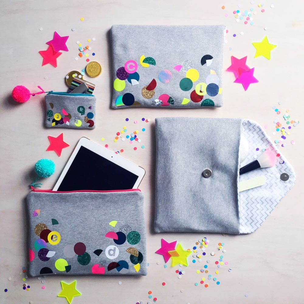 SEW YEAH STUDIOS CLUTCH BAG PURSES