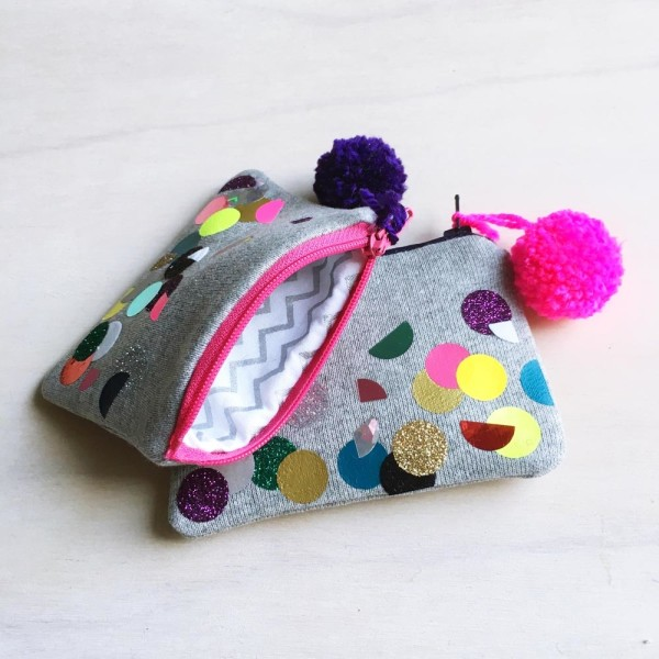 SEWYEAH CONFETTI COIN PURSE 5