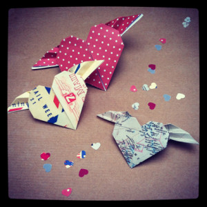 Flying heart origami project