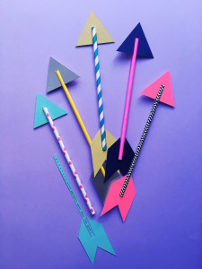 make: paper arrow Valentines Day card