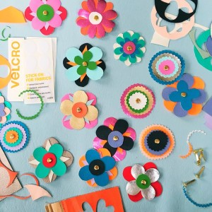 make:  pleather flower bookmarks