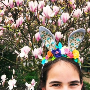 make: Easter bunny ears and floral crown