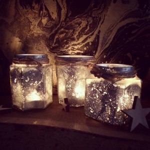 make: Mercury Glass Tealight Holders craft project